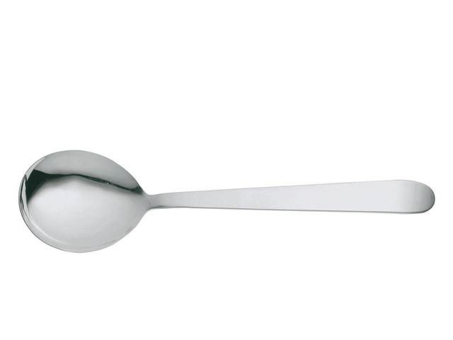 Round Bowl Serving Spoon Angled Wooden Handle