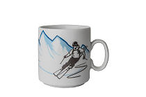 "Kaffeebecher ""SKIING"""